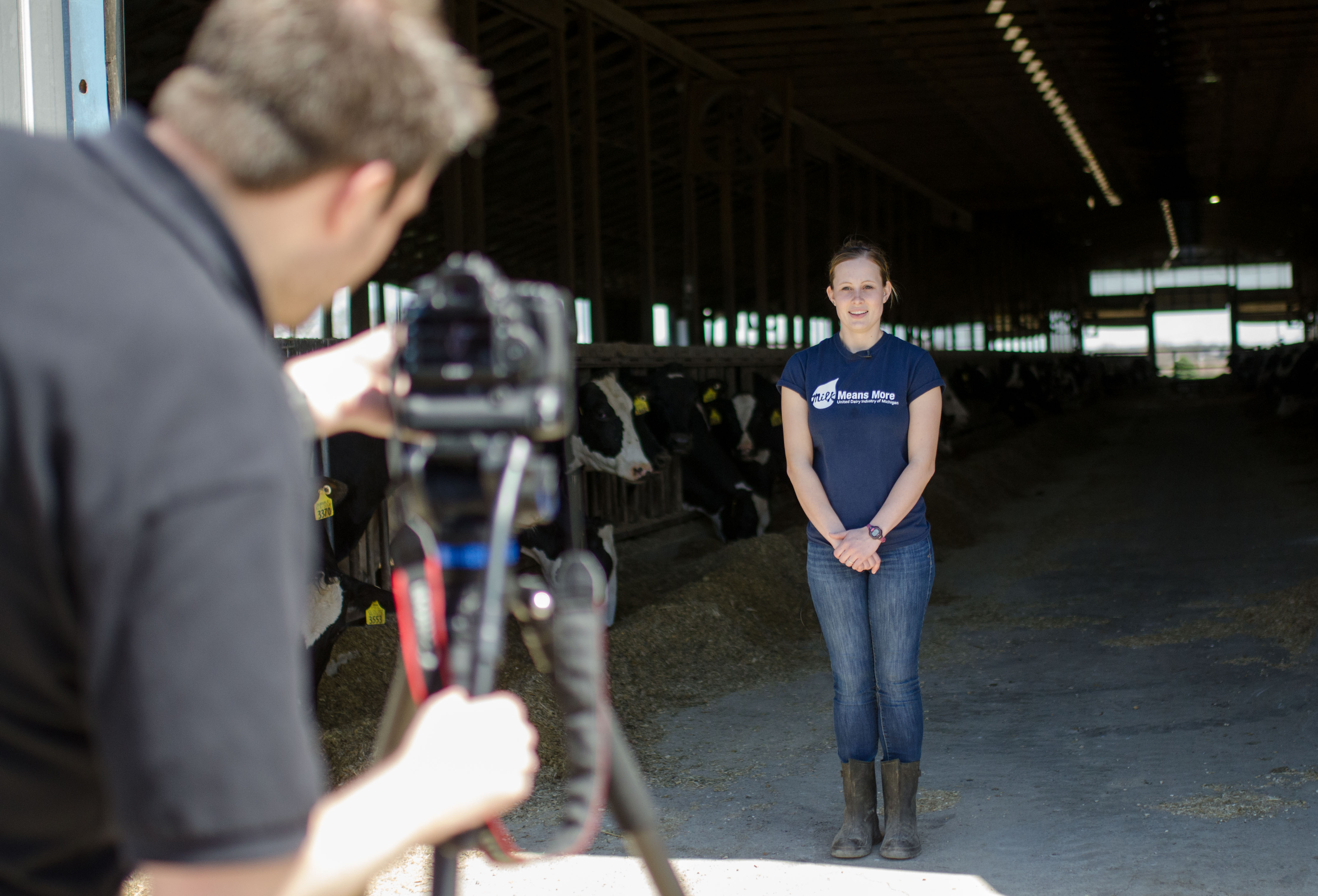 Kroger video shoot at Horning Farms