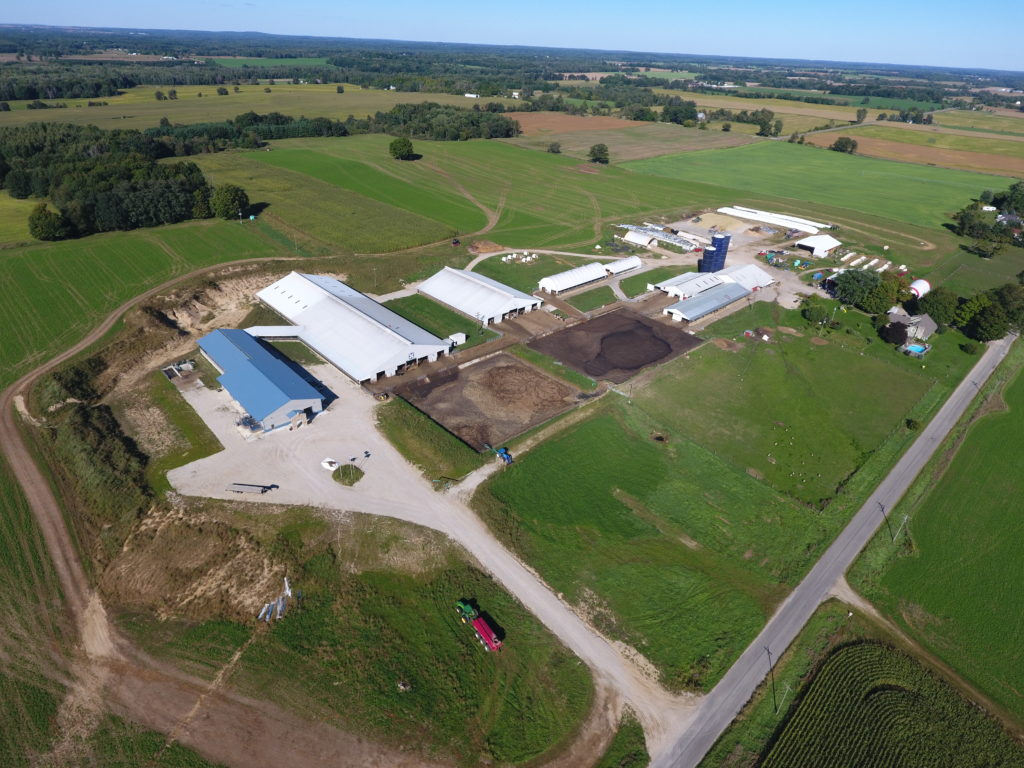 Aerial view of De Grins Oer Dairy.