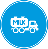 icon of milk truck